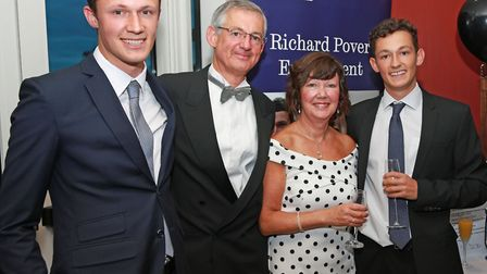 Richard's family; brother, Chris, dad, David, mum, Anne and brother, Stephen Pover