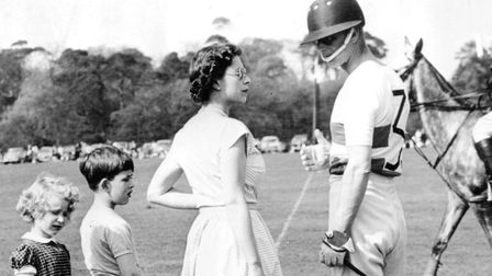 Prince Charles and Princess Anne at the polo, Windsor, 1951 (c) Keystone Pictures USA / Alamy