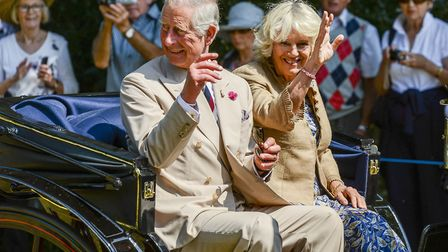 Prince Charles and the Duchess of Cornwall at Sandringham Flower Show in 2014 (c) Matthew Usher