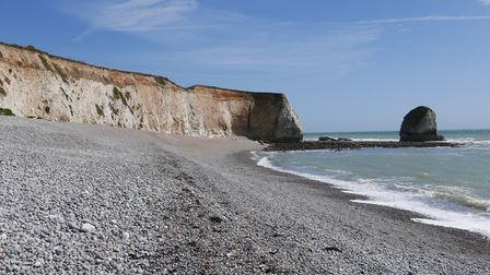 Freshwater Bay beach and cliffs