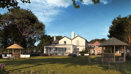 A CGI impression of the new hotel at Denbies Wine Estate