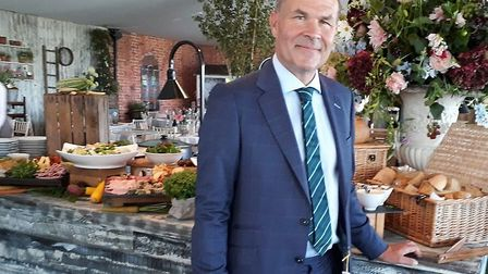 Neil Phillips, The Wine Tipster in a Clements & Church suit