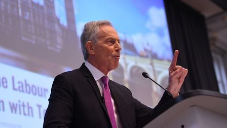 Former prime minister Tony Blair during a speech to mark the 120th anniversary of the founding of th