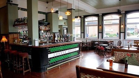 The main bar at The Corner House in Worthing