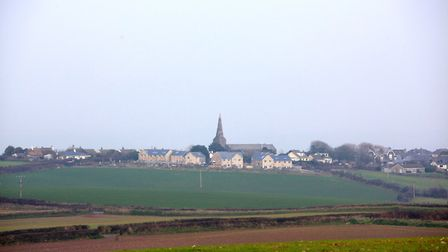 The distinctive spire of Malborough church can be spotted at various points on this walk