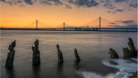 Mersey Gateway by Andy Light, which came second in the 2018 Cheshire Life readers' photography compe