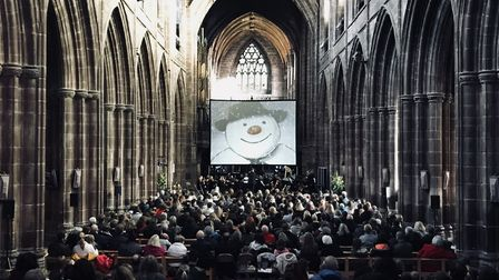 The Snowman at Chester Cathedral