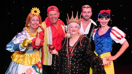 Ann Widdecombe headlines as the Wicked Queen in Redhill's production of Snow White (Photo by Alex Ha
