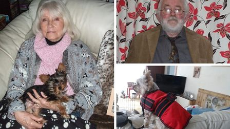 Michael Thompson, his late wife Pamela and their dog Tootsie