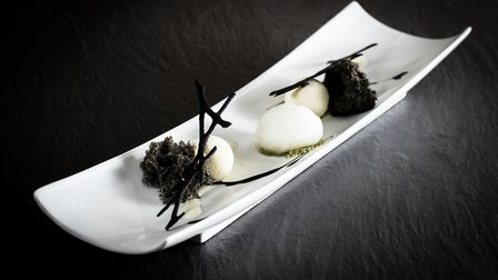 Peter Street Kitchen: Yoghurt & White Chocolate Mousse with Goma Sponge and Calpico Sorbet