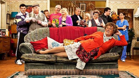 The cast of comedy Mrs Brown's Boys. Photograph: BBC.