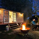 Snuggle around your own fire pit at North Downs Shepherd Huts (Photo: botleyhill-farmhouse.co.uk)