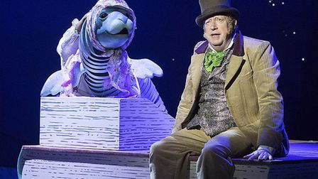 Doctor Doolittle with Sophie the Seal, in Doctor Doolittle the Musical