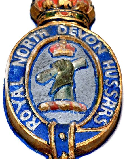 Badge of the Royal North Devon Hussars, taken from a monument to Major Morland Greig (1864-1915), Ma