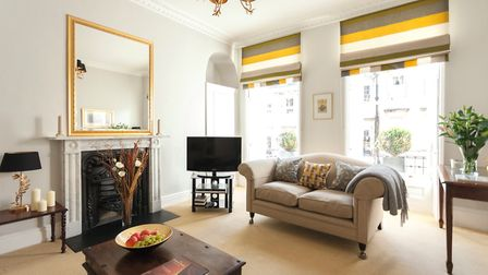 This elegant room was created from part of a much bigger and equally elegant drawing room, dating fr
