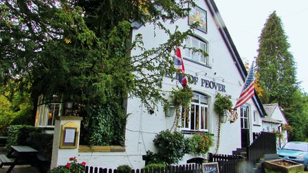 CAPTION: Flying the flags at the Bells of Peover