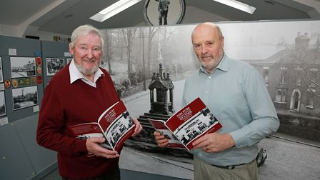 Co-authors of the book 'Pubs and Ale Houses of Lymm', Alan Taylor (photographer) and Alan Williams