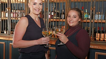 Owner, Danielle Westwood, and manager, Ruby Halsall at Gin Lane in Stockton Heath