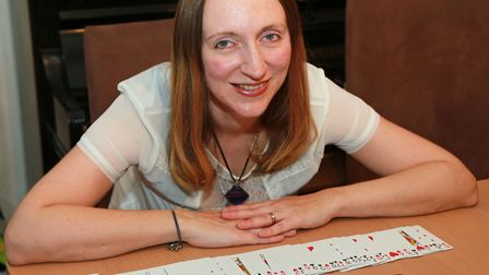 Memory Expert Katie Kermode at her home in Timperley, Cheshire