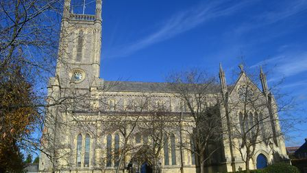 St Mary's Church is an impressive building completed in the 1840s and constructed from knapped flint