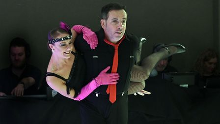Shaun McDermott, Contract Manager, dancing the Charleston with professional partner Natalie Goodier