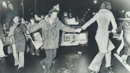 Streets were alive with the sounds of victory in Montreal after word of the Parti Quebecois victory
