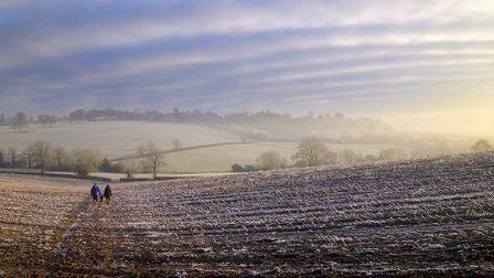 Frost and winter's sky over the Sibfords (c) William Gray Photography