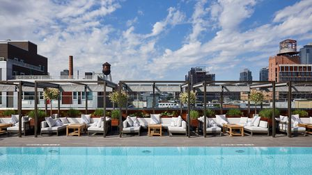 The William Vale hotel boasts New York's longest outdoor swimming pool, up on its rooftop