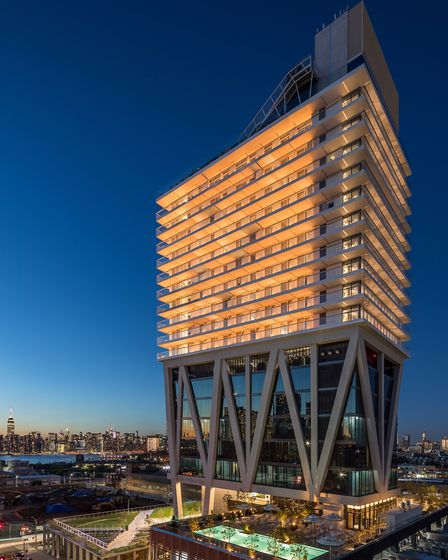 Stay at the at the 23-storey William Vale hotel on North 12th Street (photo: Lester Ali)