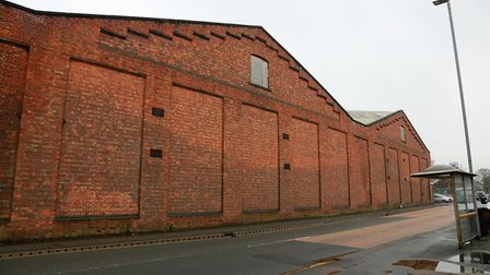 The factory wall in Crewe....subject of a short film by Jason Jason Davidson and Pete Roch *** Loca