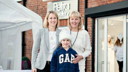 Mitch, her mum, Petra, and daughter, Heidi, outside Petra Jewellery during one of their Winter Wonde