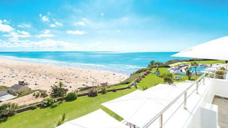 The iconic Saunton Sands Hotel has fabulous views over the beach and beyond