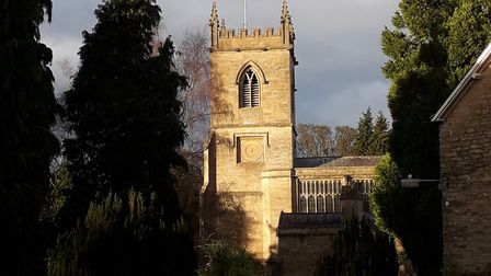 The handsome church of St Mary's
