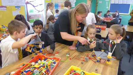 """""""""""Hands-on activities, such as the K'NEX competition, are an exciting and effective way of engaging"""