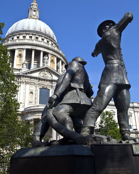The Blitz - the National Firefighters' Memorial at St Paul's Cathedral