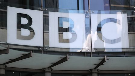 A view of the BBC New Broadcasting House sign in central London.