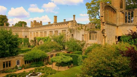 Sudeley Castle, showing ruins and knot garden