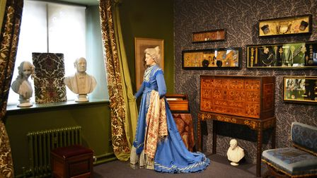 Emma Dent's elaborate blue gown has previously been restored during the closed season at Sudeley Cas