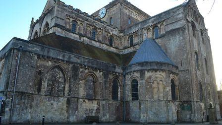 Romsey Abbey was originally built in the 10th century and is the largest parish church in the county