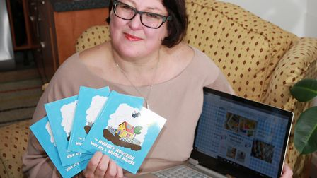 Author, Jacqueline Susan Richards with some of her books Warrington people for town feature