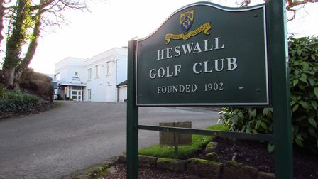 Entrance to the golf club on Cottage Lane