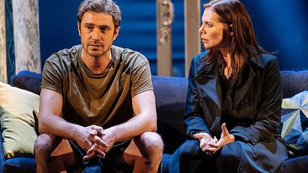 Scott (Oliver Farnworth) and Rachel in The Girl on the Train
