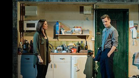 Rachel (Samantha Womack ) and Tom (Adam Jackson Smith) in The Girl on The Train Credit: Manuel Harl