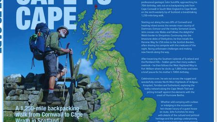 John outlines his new way to walk from one end of Britain to the other in his new book, Cape to Cape