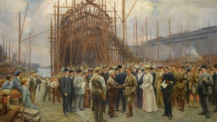 Their Majesties visit to Cammell Laird 1917, part of the Made of Iron exhibitio n on the Wirral