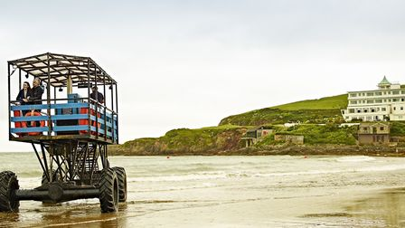 The sea tractor at Burgh Island is 50 years old
