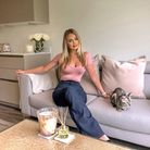 Rachel Ward, at home with her equally Insta-worthy cat, Mika.