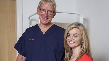 Dr David West, former NHS consultant and Medical Director of Veincentre and his wife Deborah West. C