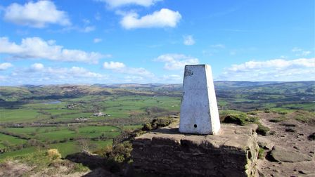 Trig point on The Cloud