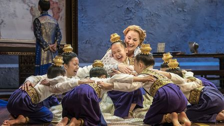 Anna (Annalene Beechey) and the royal children. Credit: Johan Persson